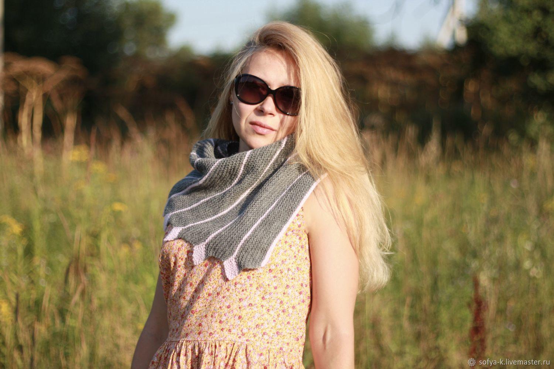 Bacchus gray wool 'Striped', Shawls1, Moscow,  Фото №1