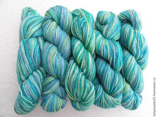 Вязание ручной работы. Ярмарка Мастеров - ручная работа. Купить Пряжа Manos del Uruguay Silk Blend Space Dyed № 3116 Caribe. Handmade.
