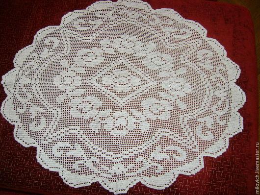 Текстиль, ковры ручной работы. Ярмарка Мастеров - ручная работа. Купить Кружевная салфетка. Handmade. Салфетка крючком, кружевная салфетка