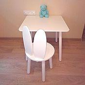 """Столы ручной работы. Ярмарка Мастеров - ручная работа Детский стол+стул """"Зайка"""". Handmade."""