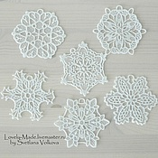 Подарки к праздникам handmade. Livemaster - original item Snowflakes white and not only. Lace. snowflake lace. Handmade.