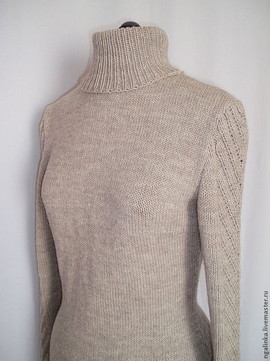 Кофты и свитера ручной работы. Ярмарка Мастеров - ручная работа. Купить свитер из шерсти Прогулка по лесу. Handmade. Бежевый