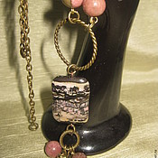 Украшения handmade. Livemaster - original item Print made nature. Rhodonite. Pendant.. Handmade.