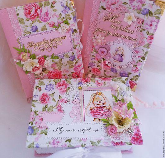 Подарки для новорожденных, ручной работы. Ярмарка Мастеров - ручная работа. Купить Набор для мамы маленькой принцессы. Handmade. Комбинированный