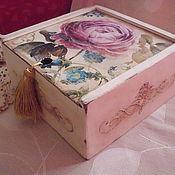 """Для дома и интерьера ручной работы. Ярмарка Мастеров - ручная работа Короб """"Цветы"""". Handmade."""