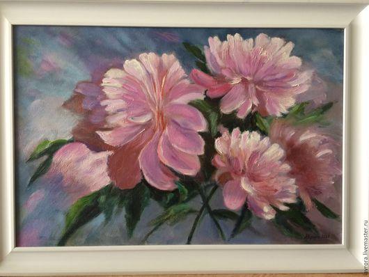 Картины цветов ручной работы. Ярмарка Мастеров - ручная работа. Купить Любимые цветы. Handmade. Комбинированный, розовые цветы, пионы