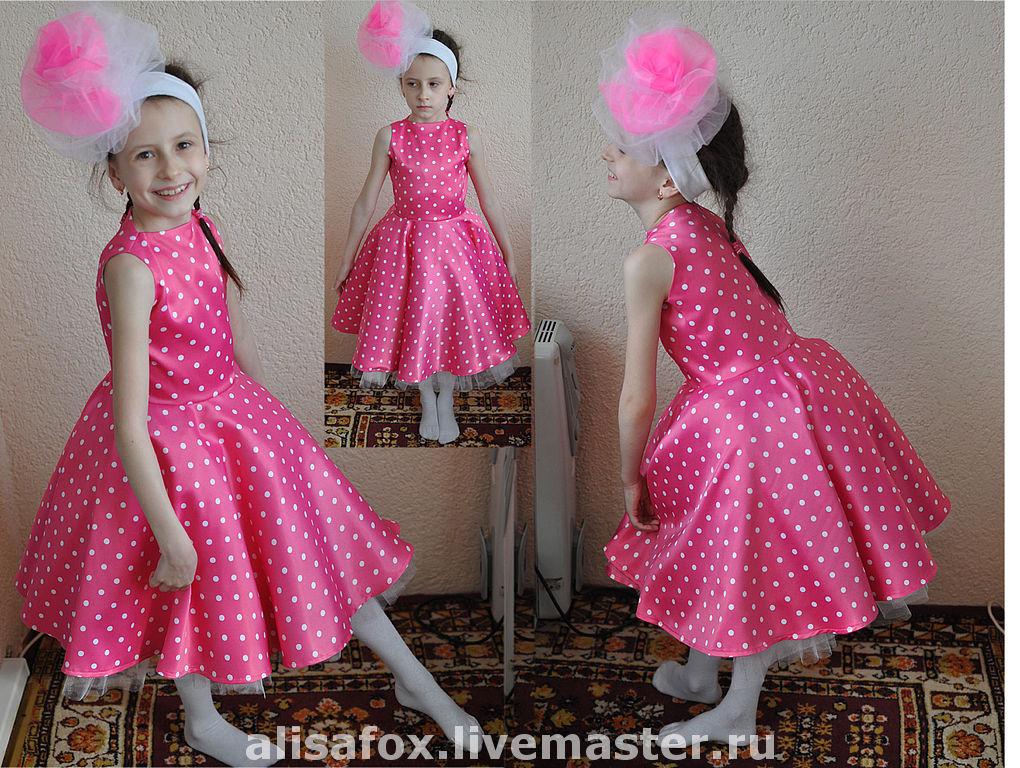 6862ba775544bee Стиляги - детское платье в горошек детское нарядное ...