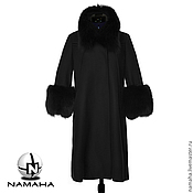 Одежда ручной работы. Ярмарка Мастеров - ручная работа Пальто с мехом песца, зимнее пальто с мехом. Handmade.