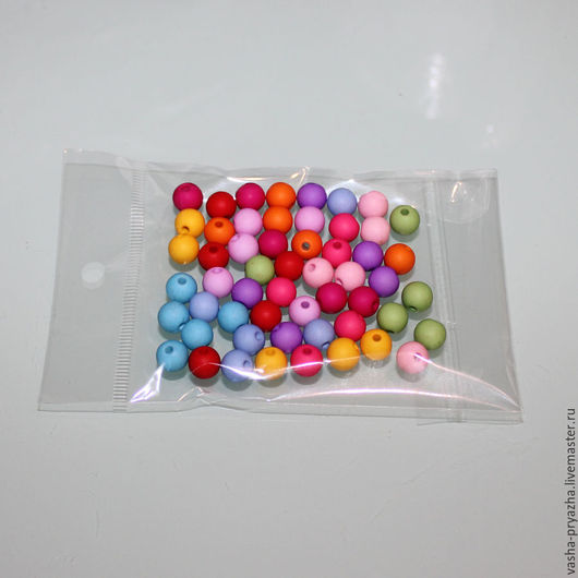 Для украшений ручной работы. Ярмарка Мастеров - ручная работа. Купить Акриловые разноцветные бусинки. Handmade. Комбинированный, бусины для украшений