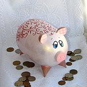 Копилки ручной работы. Ярмарка Мастеров - ручная работа Свинья-копилка Хрюня сувенир. Handmade.