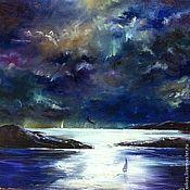 Картины и панно handmade. Livemaster - original item Oil painting - the Mystery of the night. Handmade.