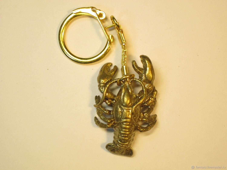 Brass keychain Zodiac sign 'Cancer' 22.06-22.07, Key chain, Yaroslavl,  Фото №1