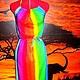 """Пляжные платья ручной работы. Ярмарка Мастеров - ручная работа. Купить Сарафан летний """"Радуга"""". Handmade. Разноцветный, пляжный сарафан"""