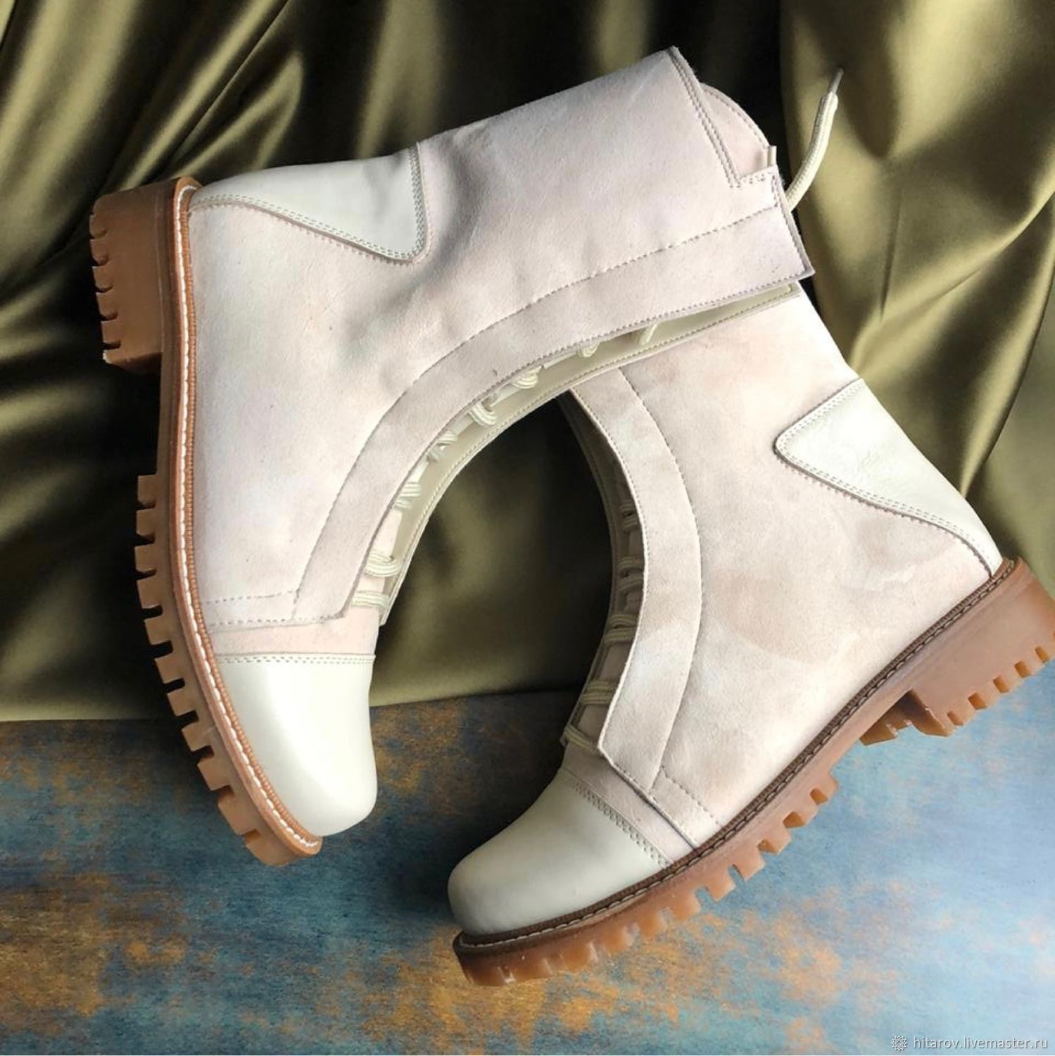 Shoes 'Ultra' ivory leather / suede beige sole, Boots, Moscow,  Фото №1