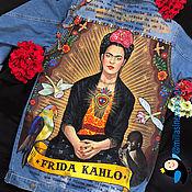 """Куртки ручной работы. Ярмарка Мастеров - ручная работа Джинсовая куртка """"Фрида Кало"""". Handmade."""
