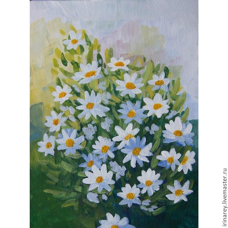 "... Картина на холсте ""Ромашки"". Handmade: www.livemaster.ru/item/7262711-kartiny-panno-kartina-na-holste..."