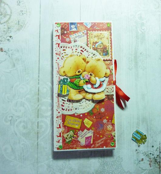 Открытки к Новому году ручной работы. Ярмарка Мастеров - ручная работа. Купить Шоколадница Письмо от Деда Мороза. Handmade. подарок