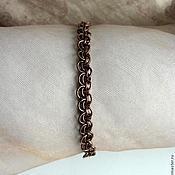 Украшения handmade. Livemaster - original item Copper bracelet chainmail. Handmade.