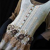 Одежда ручной работы. Ярмарка Мастеров - ручная работа Бохо жилет Ароматы ванили. Handmade.