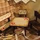 """Кукольный дом ручной работы. Кукольная мебель """"Кантри"""".. Елена Сизова. Ярмарка Мастеров. Столик, петушки и курочки"""