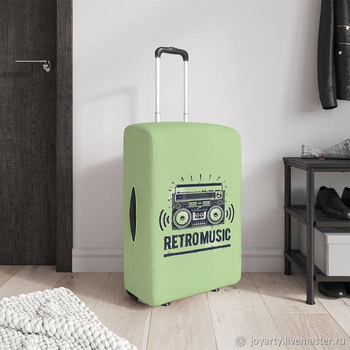 Чехол для чемодана «Ретро музыка» (S,M,L/XL), Сумки и аксессуары, Москва, Фото №1
