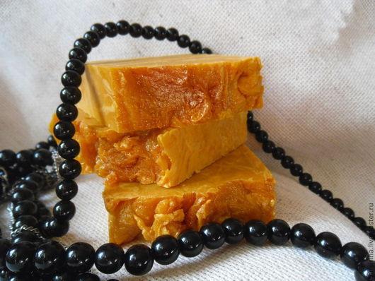 Мыло ручной работы. Ярмарка Мастеров - ручная работа. Купить ТЫКОВКА натуральное  мыло. Handmade. Оранжевый, для всех типов кожи