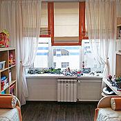 Для дома и интерьера ручной работы. Ярмарка Мастеров - ручная работа Оранжево-салатовый текстиль для детской. Handmade.