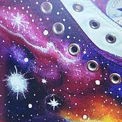 Обувь ручной работы. Ярмарка Мастеров - ручная работа Кеды космос, батик, кеды converse, космические кеды. Handmade.