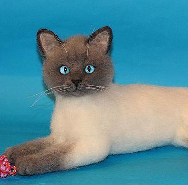 Куклы и игрушки ручной работы. Ярмарка Мастеров - ручная работа Тайская кошка. Handmade.