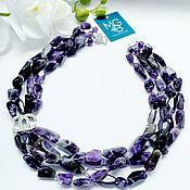 Украшения handmade. Livemaster - original item Necklace with natural amethysts. Handmade.
