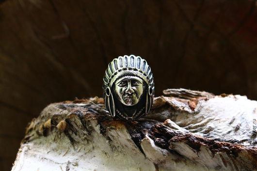 Кулоны, подвески ручной работы. Ярмарка Мастеров - ручная работа. Купить Кольцо Вождь Индейцев / Indian Warchief Ring. Handmade.