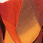 """Аксессуары ручной работы. Ярмарка Мастеров - ручная работа Длинный шарф """"Этюд в осенних тонах"""". Handmade."""