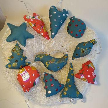 Куклы и игрушки ручной работы. Ярмарка Мастеров - ручная работа Текстильные игрушки для Нового Года. Handmade.
