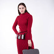 Одежда handmade. Livemaster - original item Long knit dress with side slits. Handmade.
