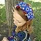 """Диадемы, обручи ручной работы. Ярмарка Мастеров - ручная работа. Купить Ободок для волос """"Ягодный блюз"""".. Handmade. Синий"""