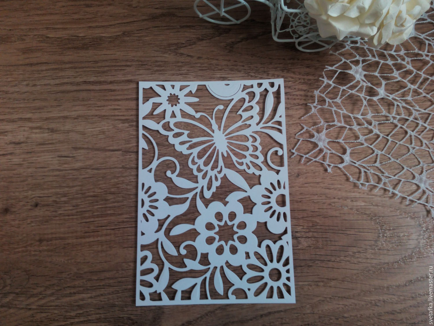 Cutting for scrapbooking -BACKGROUND-magic Garden butterfly-with ...