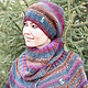 Пончо ручной работы. Пончо - Черноплодная рябина.. Knitted fashion by Ekaterina Bykova. Ярмарка Мастеров. Свитер вязаный, шерсть