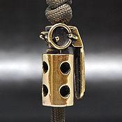 Материалы для творчества handmade. Livemaster - original item Garnet bead for lanyard, pendant, paracord, keychain. Handmade.
