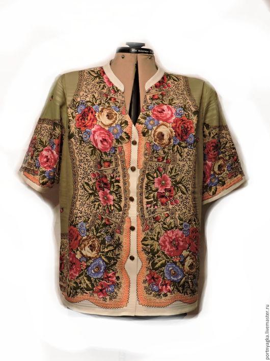 Большие размеры ручной работы. Ярмарка Мастеров - ручная работа. Купить Блузка из ППП Мадонна. Handmade. Комбинированный, большие размеры