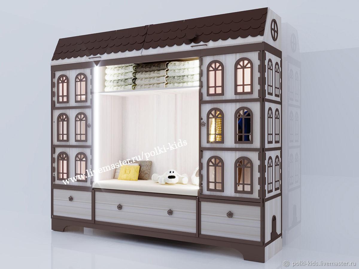 Набор из трех шкафов домиков в детскую комнату БРИО - 2, Шкафы, Санкт-Петербург,  Фото №1