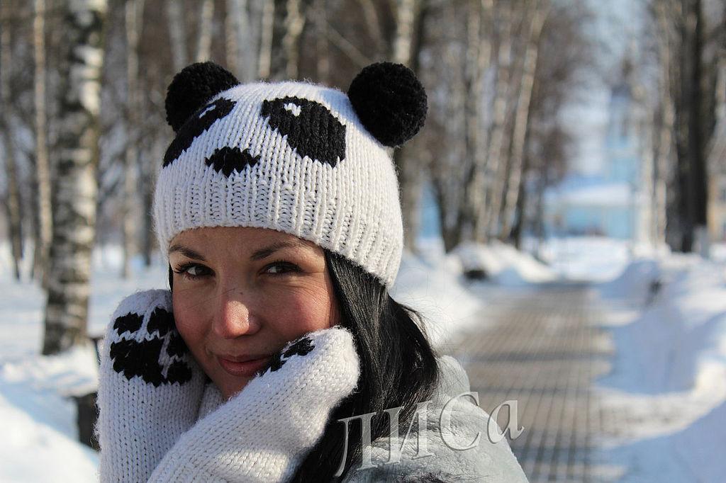 Шапки панда