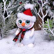Куклы и игрушки ручной работы. Ярмарка Мастеров - ручная работа Грустный Снеговик. Handmade.