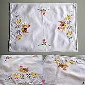 Винтаж handmade. Livemaster - original item Vintage Easter napkin with embroidery. Handmade.