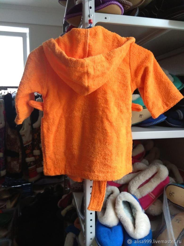 """Махровый халат детский. 2-4 года """"Оранж"""""""
