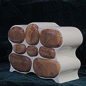 Для дома и интерьера ручной работы. Ярмарка Мастеров - ручная работа Комодик Белый(отделка из капа дуба). Handmade.