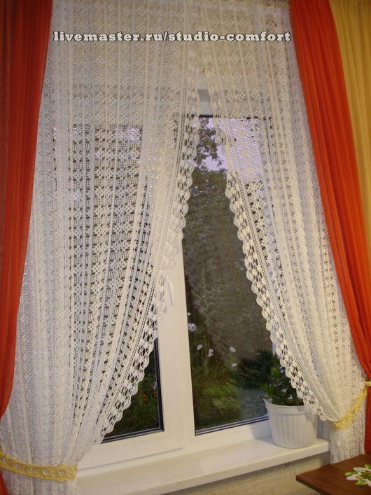 """Текстиль, ковры ручной работы. Ярмарка Мастеров - ручная работа. Купить штора """"Нежность"""" (комплект 2 шт.). Handmade."""