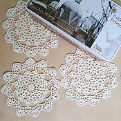 Для дома и интерьера ручной работы. Ярмарка Мастеров - ручная работа Набор салфеток для красивого и душевного чаепития. Handmade.