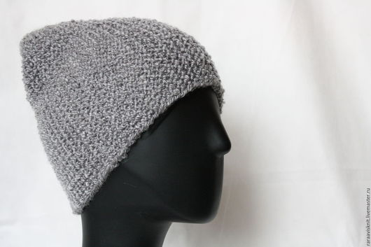 шапка бини, вязаная шапка бини, шапка унисекс, купить шапку бини