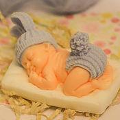 Косметика ручной работы. Ярмарка Мастеров - ручная работа Мыло малыш-зайка на подушке. Handmade.