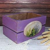 """Ящики ручной работы. Ярмарка Мастеров - ручная работа Ящик для хранения """"Прованс"""". Handmade."""